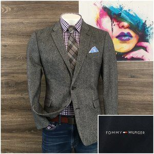 Tommy Hilfiger Mens Blazer Sport Coat Two Button